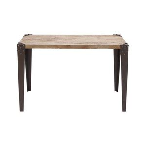 Decmode Industrial 30x42 inch Distressed Brown Iron and Fir Wood Rectangular Console table for Sale in Norcross, GA