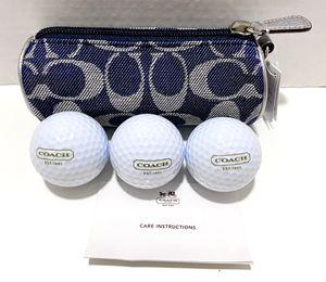 COACH Signature Golf Balls & Bag SIGNATURE DENIM NEW! for Sale in Stuart, FL