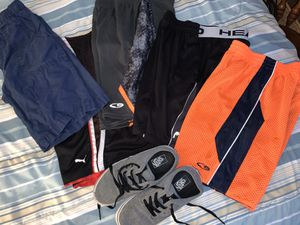 5 shorts boys size small medium. Vans size 3 for Sale in Tacoma, WA