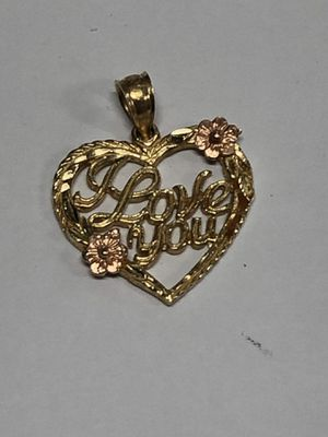 14k I Love You Heart Charm 1.5 Grams for Sale in Los Angeles, CA