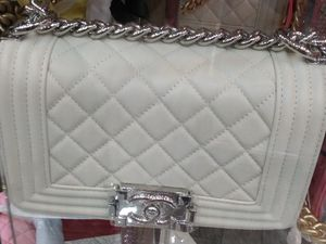 White Chanel boy bag. Mini for Sale in Queens, NY