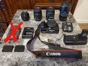 Canon Rebel T3, lenses, and accessories for Sale in Houston, TX