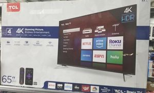 65INCH TCL 4K HDR SMART ROKU TV for Sale in Pomona, CA