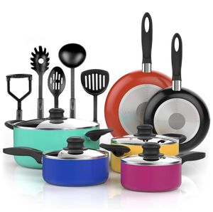 NEW nonstick cooking pots and pans with cooking utensils for Sale in Bothell, WA