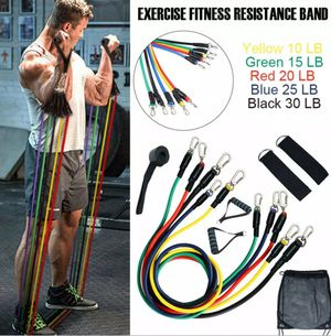 Brand new exercise bands for low -heavy work out, yoga, stretching, aerobics for Sale in Hayward, CA