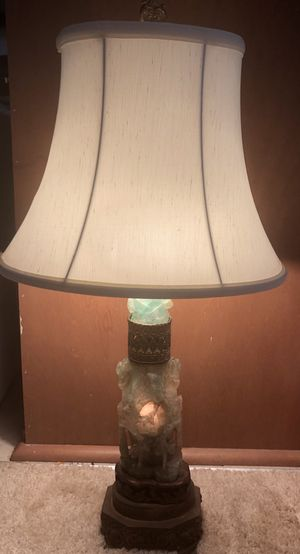 Antique Asian jade lamp for Sale in Washington, DC