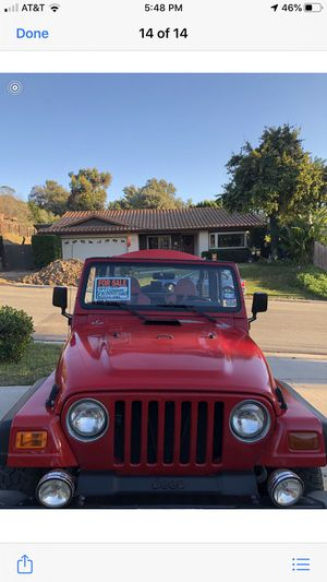 1999 Jeep Wrangler for Sale in San Diego, CA