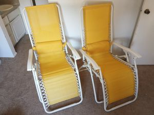 2 Outdoor Reclining Chairs for Sale in Houston, TX