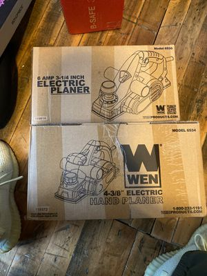 WEN electric hand planner 2 for $60 for Sale in Buffalo, NY