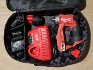 Milwaukee M12 FUEL 12-Volt Lithium-Ion Brushless Cordless 4-in-1 Installation 3/8 in. Drill Driver Kit with 4-Tool Heads for Sale in Greenville, SC
