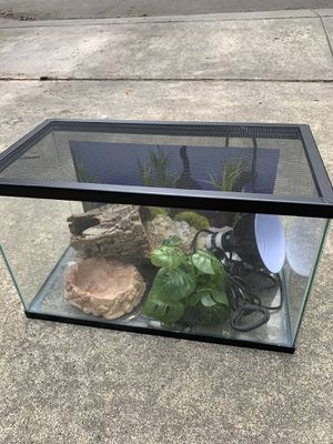 Fish/reptile tank + supplies for Sale in Portland, OR