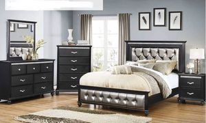 Brand New Silver/Black Bedroom Set! for Sale in Tucson, AZ
