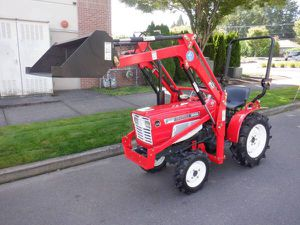 Yanmar 18hp tractor with front loader - diesel 3 point John Deere for Sale in Happy Valley, OR