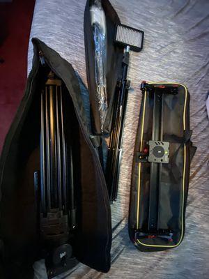 Camera Gear- Tripod , Camera Slider, Light Stand for Sale in Andover, MA
