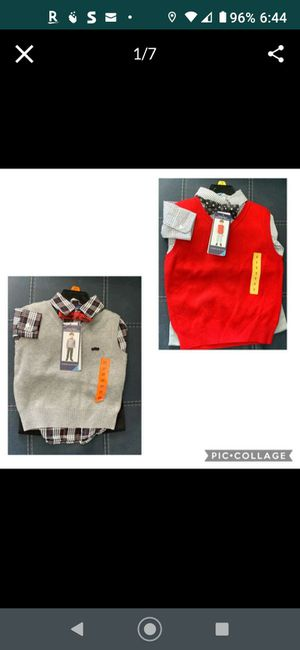 Brand New! Andy & Evan 4 Piece Sweater Vest - Size 2T & 5 for Sale in Westminster, CA