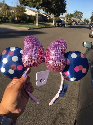 BRAND NEW AUTHENTIC MINNIE MOUSE DISNEY EARS COLORED POLKA DOTS for Sale in San Diego, CA