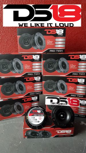 Ds18 Bullet tweeters Newest design Loud and clear $30 for a set(2) in a box/Twitter de bala Ds 18 Modelo mas nuevo $30 El par for Sale in Houston, TX