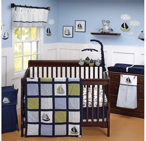 Náutica Zachary 7 pieces Newborn Baby Crib Bedding Set New for Sale in Compton, CA