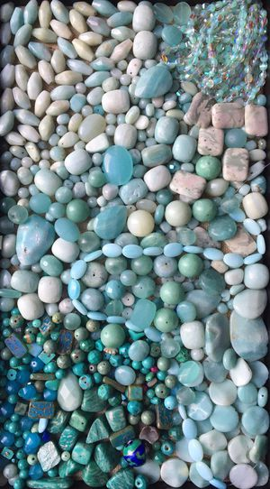 Huge Amazonite gemstone & glass beads for jewelry making for Sale in Seattle, WA