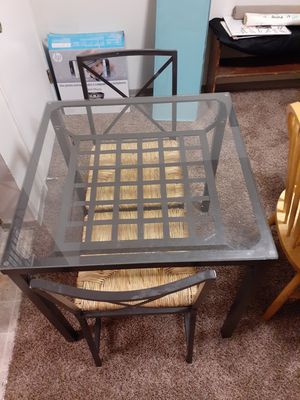 Glass top table and 2 chairs for Sale in Spokane, WA