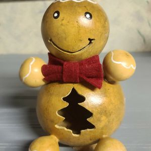 New Handcrafted Gourd Gingerbread Man Tea Light for Sale in Elizabethtown, PA