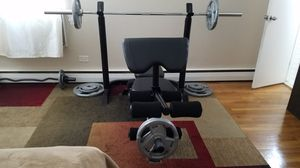 Bench/Olympic bar/300 lb plates for Sale in New York, NY