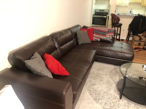 Leather sectional - sofa for Sale in Alexandria, VA