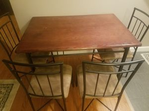 Kitchen table with 4 four chairs dining set for Sale in Cockeysville, MD