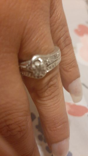 Wedding ring silver is in good condition for Sale in San Gabriel, CA