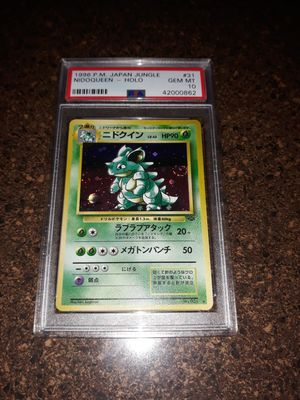 Pokemon Nidoqueen Japanese Jungle Set PSA10 GEM Mint for Sale in Queens, NY
