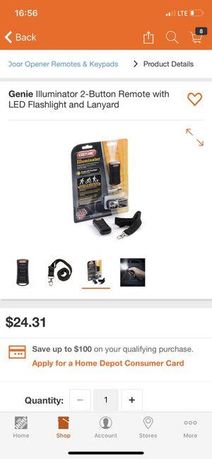 Genie Illuminator 2-Button Garage Door Remote for Sale in Oak Forest, IL