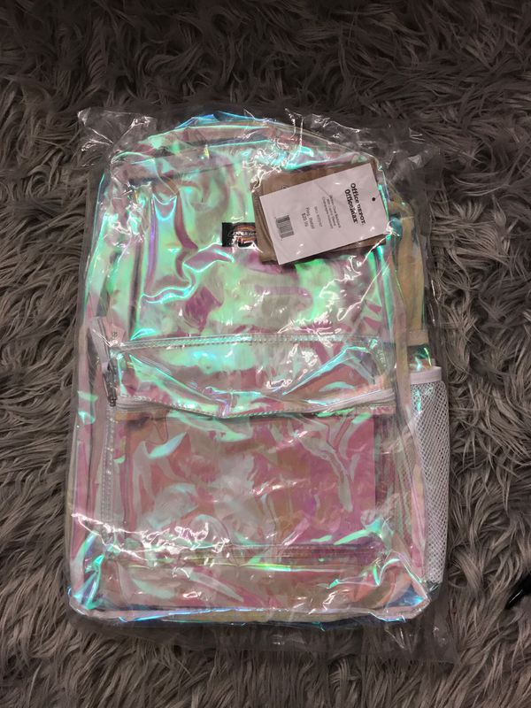 Dickies Clear Iridescent Backpack with Laptop Sleeve