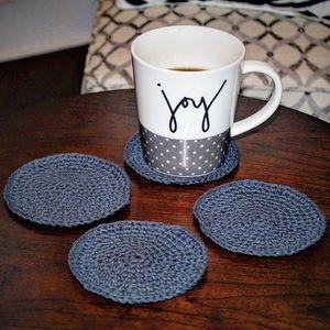 Coasters - Set of 4, Handmade Crochet for Sale in Metuchen, NJ
