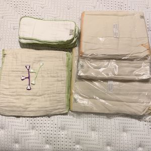 Cloth-— -prefolds - unbleached - 3 Pack (small and Newborn) New Never Used for Sale in Lynnwood, WA