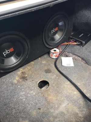 12' Power Bass Sub woofers wit a 600 watt Kicker amp for Sale in Columbus, OH
