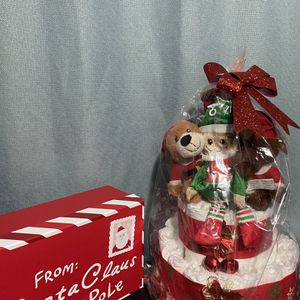 Christmas Diaper Cake With Gift Box for Sale in Arlington, VA