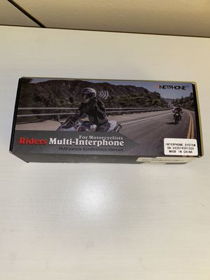 Vnetphone V4 Motorcycle Helmet Intercom Bluetooth Interphone 1200M Range for Sale in Sterling Heights, MI