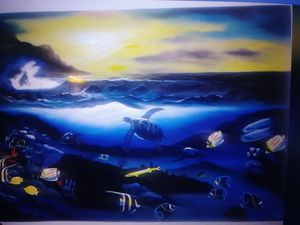 UNDERWATER MARINE LIFE PAINTINNG for Sale in Saint CLR SHORES, MI