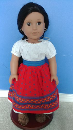 American Girl doll Josefina with bed, rug and nightgowns for Sale in Durham, NC