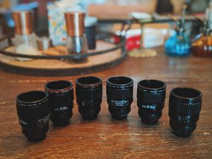 set of Canon lens shot glasses for Sale in Portland, OR