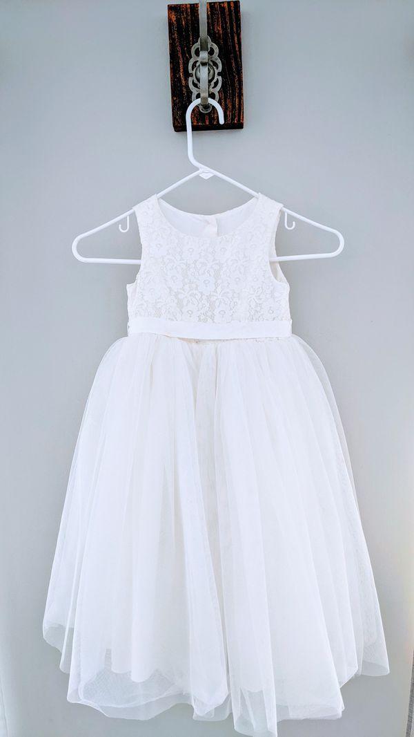David's Bridal Flower Girl Dress Ivory
