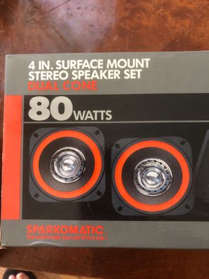 """4"""" surface mount stereo 80w speaker set sparkomatic care stereo system sound system for Sale in Chicago, IL"""