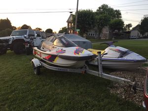 2 Jet skis one trailer for Sale in Washington, PA