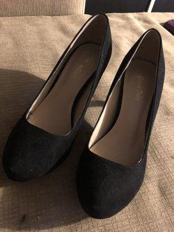 black suede stiletto shoes for Sale in Peoria,  IL