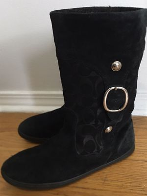 Coach blk Winter boot org 240$ size 9.5 for Sale in Chicago, IL