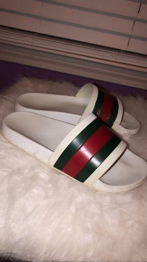 Gucci White Slides Flip Flops for Sale in Atlanta, GA