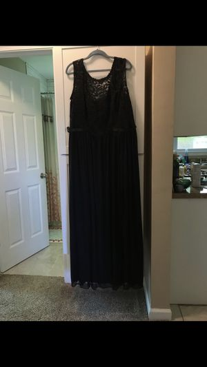 David's Bridal Black Long Bridesmaids Dress (UNALTERED) for Sale for sale  Youngstown, OH