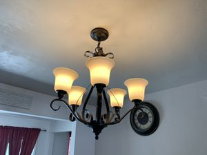5 light oil rubbed bronze chandelier for Sale in San Diego, CA