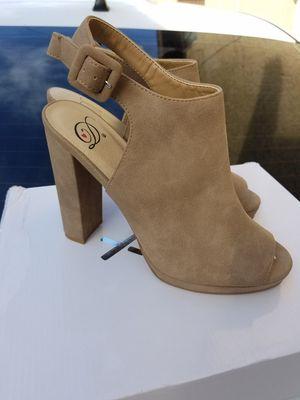 Suede Brown Open Toe Heels for Sale in Los Angeles, CA