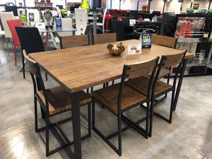 Adler 7 Piece Dining Table Set for Sale in Miami, FL